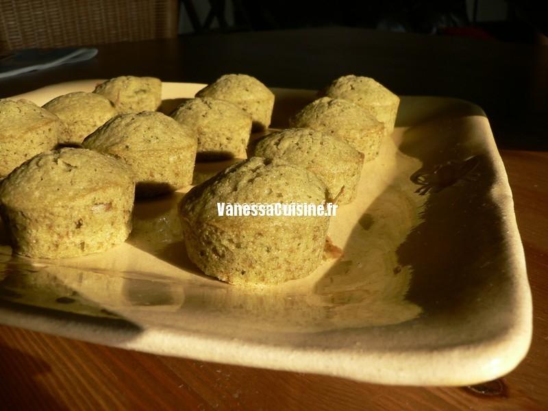 Mini cakes au thé vert