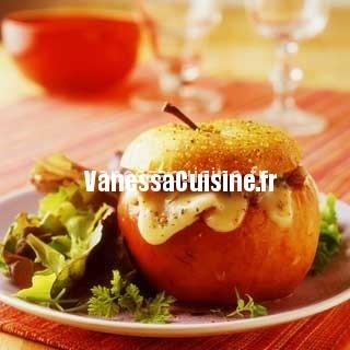 pommes farcie au camembert et lardons