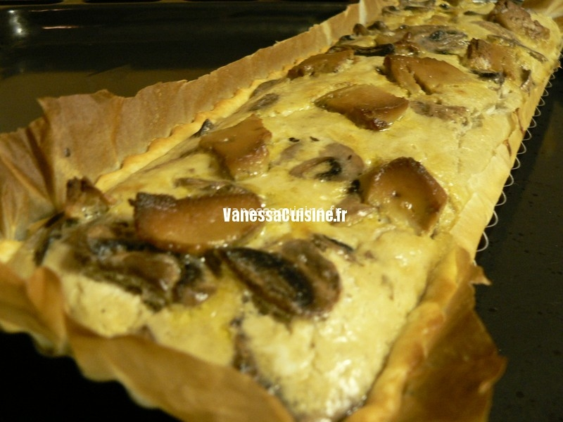 Tarte aux champignons et foie gras
