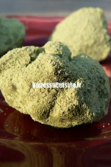 recette de truffes au thé matcha