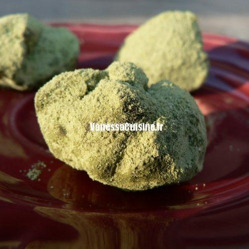 Truffes au chocolat et truffes au thé matcha