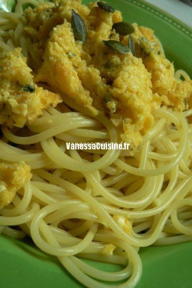 recette de spaghetti de pesto de courge