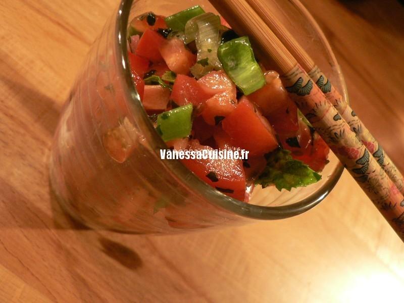 recette de carpaccio en salade thaïe