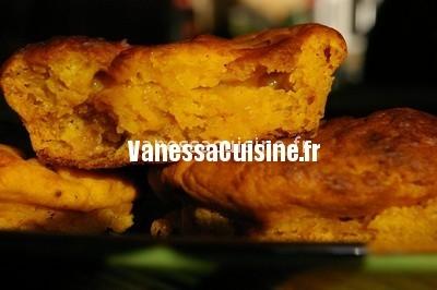 petits gâteaux au potiron, épices et abricots secs