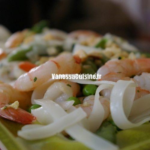 salade pates riz crevettes