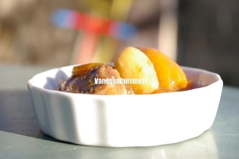 recette de daube de sanglier au Porto et fruits secs