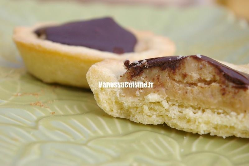 recette de tartelettes au caramel beurre salé et chocolat