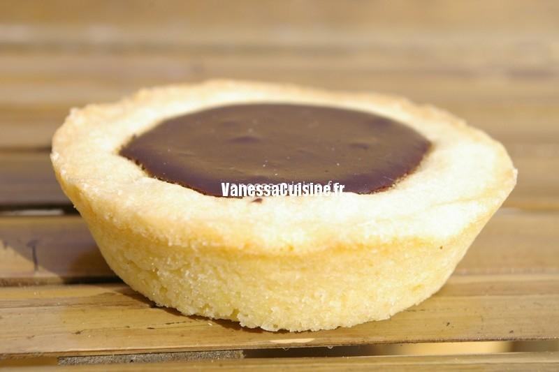 recette de tartelettes ganache chocolat noir