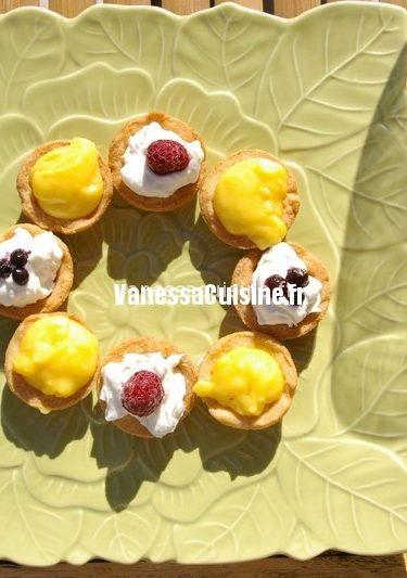 recette de tartelettes au curd de mandarine