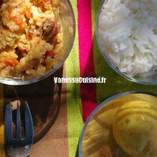 Oeuf masala et riz au yaourt