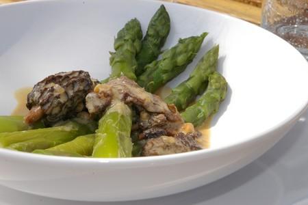 recette d'asperges vertes crème aux morilles