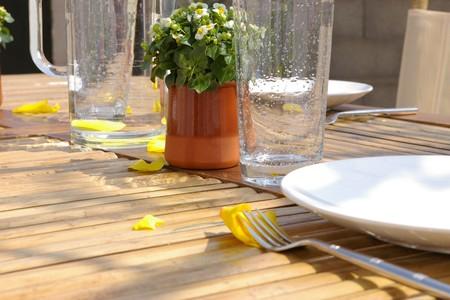 photo d'une table de printemps