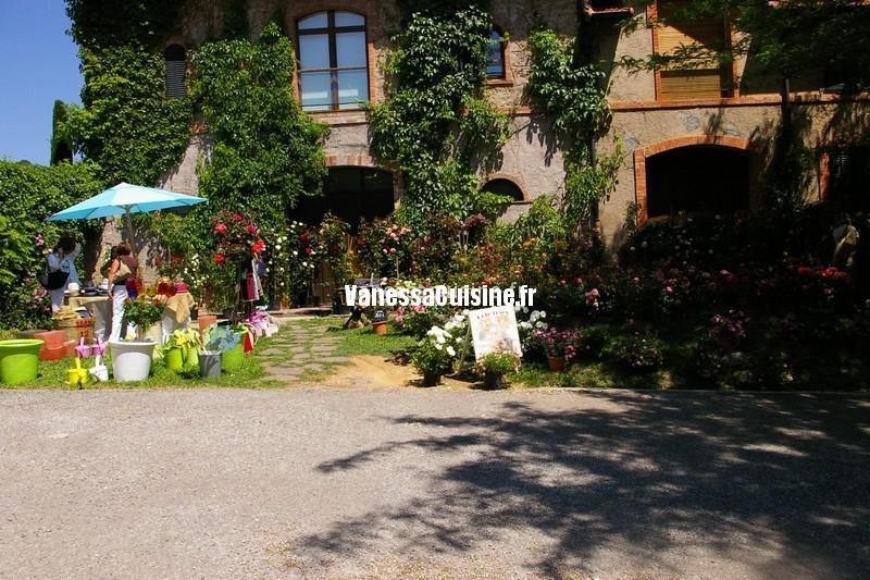 l'assiette de totis et le salon des roses au Château Sainte Roseline