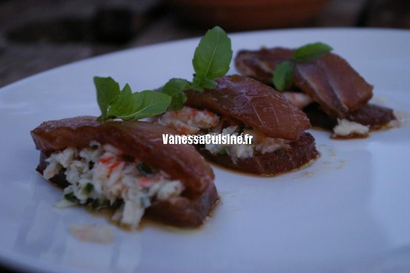 sandwichs de thon cru mariné, farcis au crabe, by W. Ledeuil