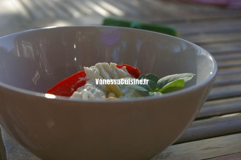 recette de poivrons farcis à la ricotta, anchois et olives vertes