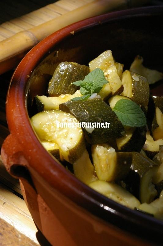 recette de salade de courgettes à la menthe et au cumin