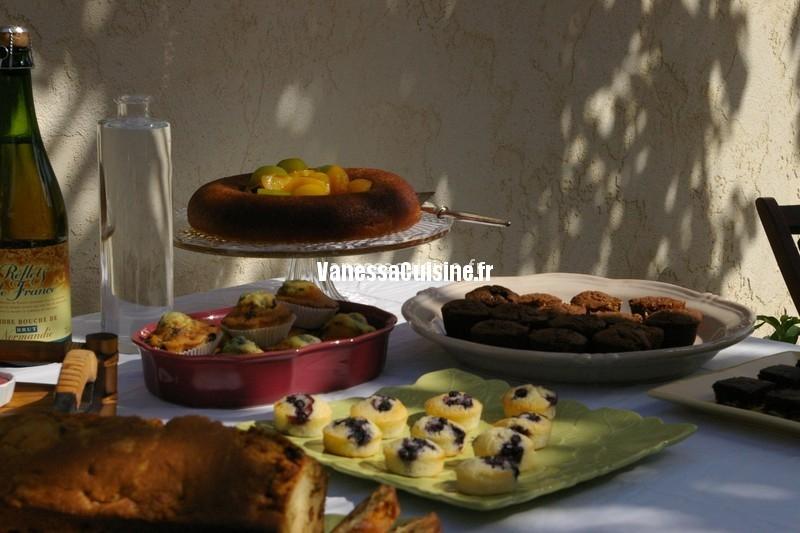 goûter de fin d'été : buffet