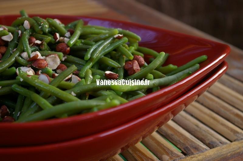 salade tiède de haricots aux noisettes