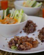 recette de tartare de saumons et galette de quinoa