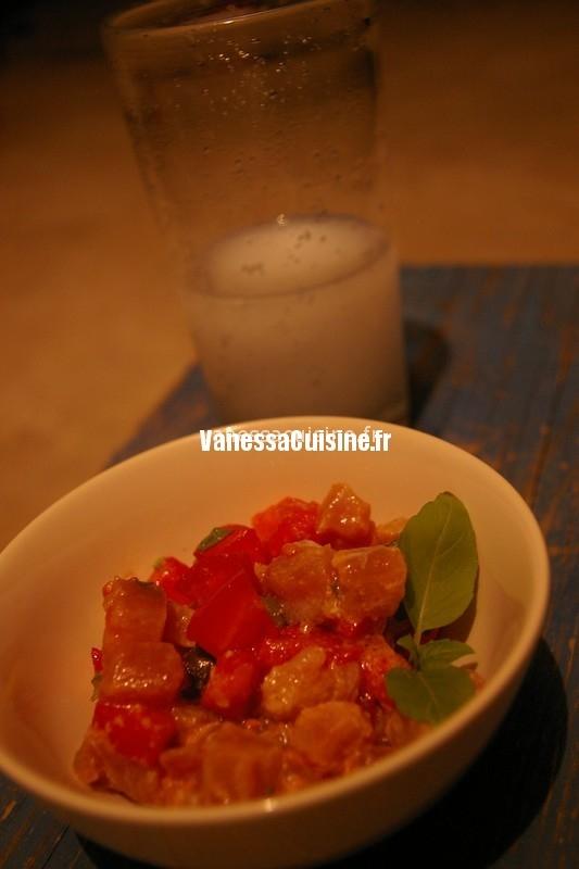 recette de tartare de thon vinaigrette au Pastis