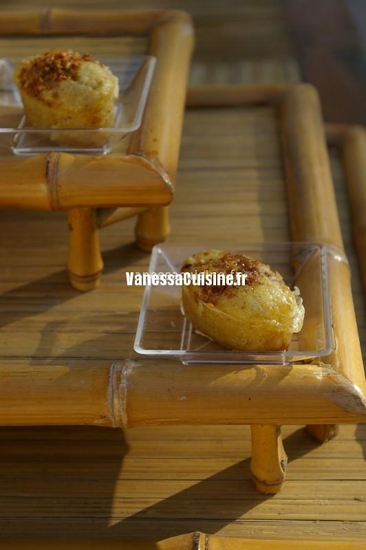 mini muffins vanille, chocolat blanc et pralin