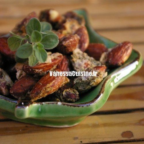 recette d'amandes grillées au thym