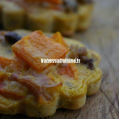 recette de clafoutis au potimarron, châtaigne et jambon cru
