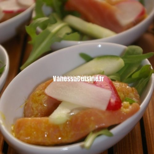 Sashimi de saumon, sauce wasabi