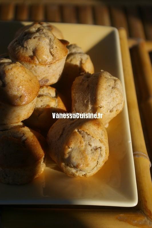 multitude de mini cakes châtaigne-crème de châtaigne et noix