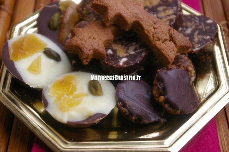 Mendiants aux deux chocolats