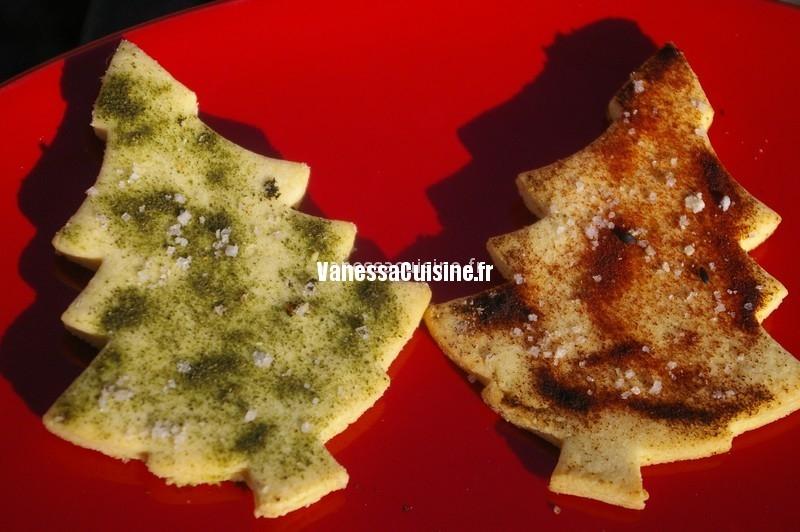 Sapins de Noël à la farine de maïs