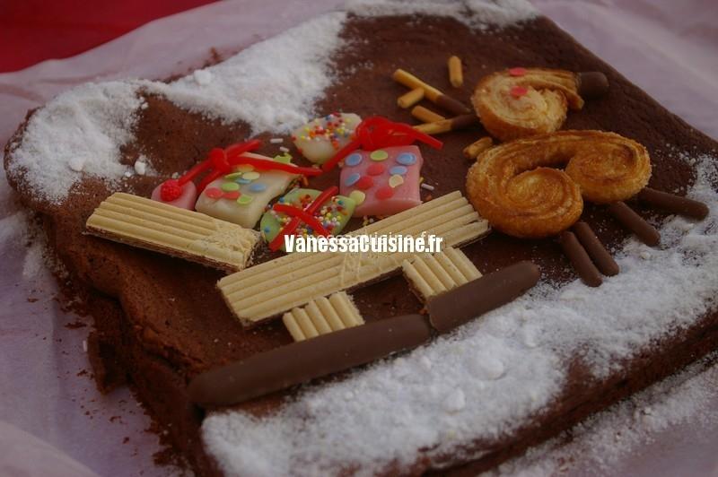 le gâteau traîneau du Père Noël d'Ysé