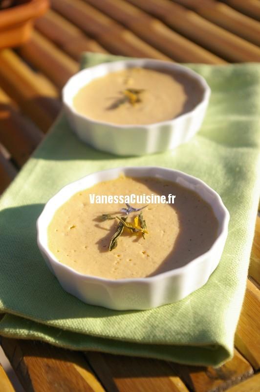 micro crèmes de patate douce et bergamote
