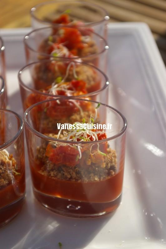 recette de crumble de tomate à l'anis de Cléa