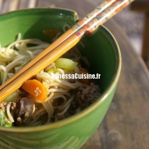 recette de nouilles au boeuf et au curry