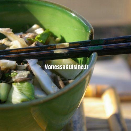 recette de wok de légumes à l'asiatique
