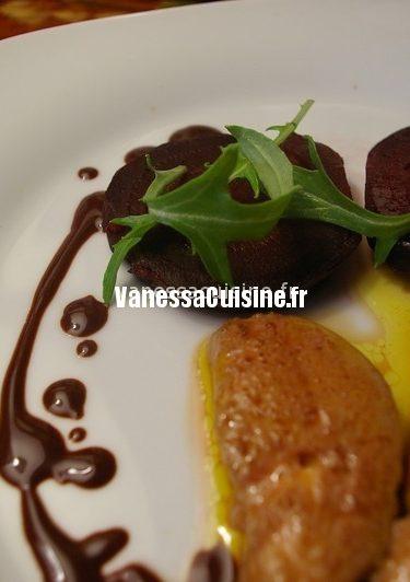 recette de foies gras poêlés et betterave