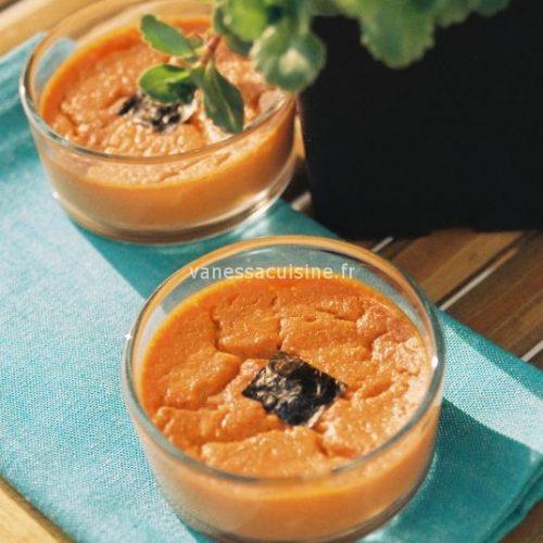Flan de tomate au miso, et algue nori