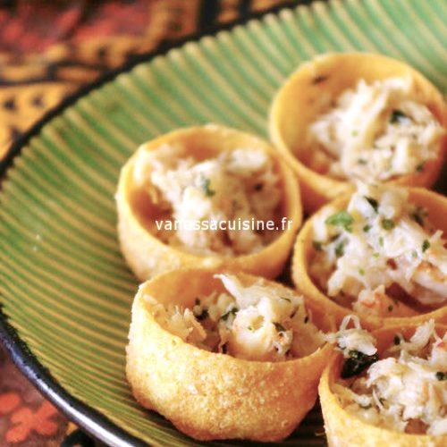 Tartelettes au crabe aux saveurs thaies