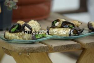 Recette de roulé d'aubergines au pesto et à la ricotta