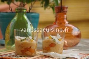 tiramisu aux abricots et au lait de coco