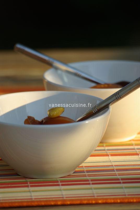 abricots au vin doux et aux épices