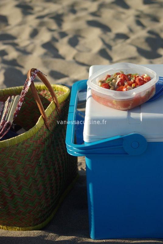 recette de salade de tomate aux fruits de mer