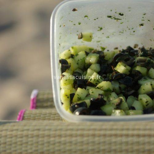 recette de tartare de concombre aux olives
