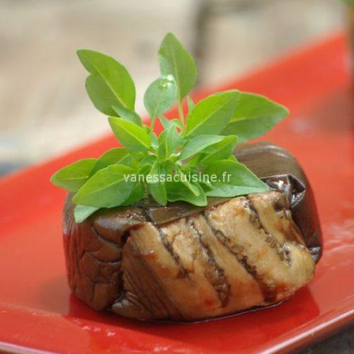 recette de terrines d'aubergines à la tapenade