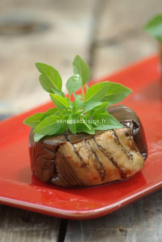 recette de terrines d'aubergine à la tapenade