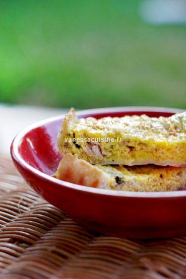 recette de tarte au thon, tomates et basilic
