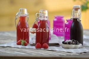 Crème de fraise des bois, cassis et framboise faites maison