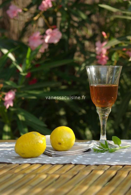 recette de vin de citron de Menton
