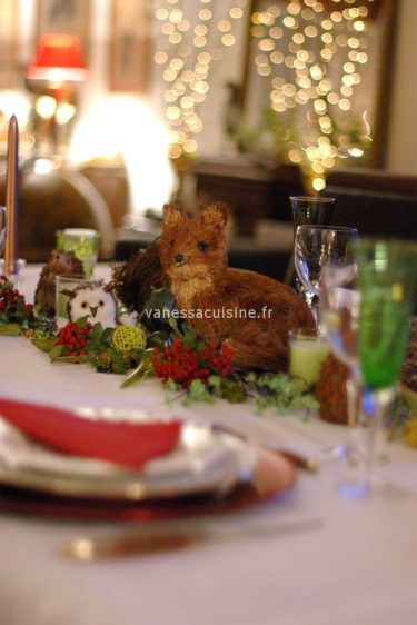 photo d'une table de Noël chez Baga